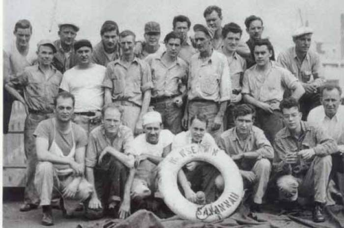 Liberty ship crew. Photo courtesy USMM.org