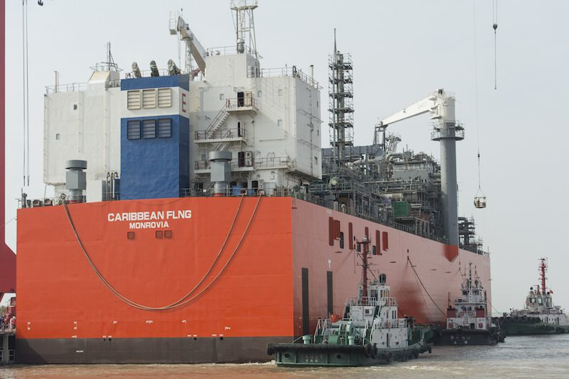 EXMAR's Caribbean FLNG, the world's first floating LNG liquefaction and storage (FLNG) facility. Photo: EXMAR