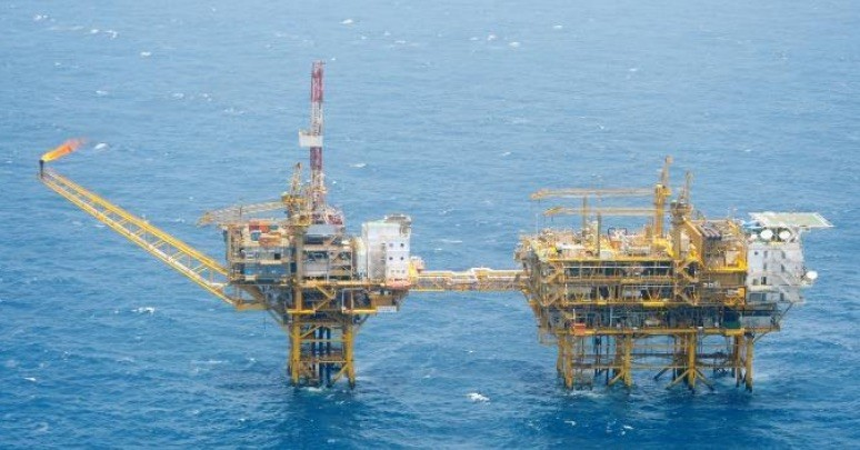 One of many photos released by Japan's Foreign Ministry showing Chinese oil and gas structures in the East China Sea. Photo: Japan Foreign Ministry