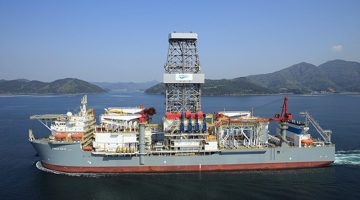 Ensco 9 drillship file photo courtesy Ensco Plc
