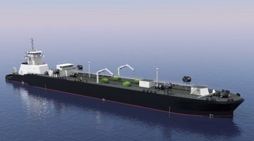 The ocean-going ATB will have capacity for 4,000 m3 of LNG. Illustration: Jensen Maritime