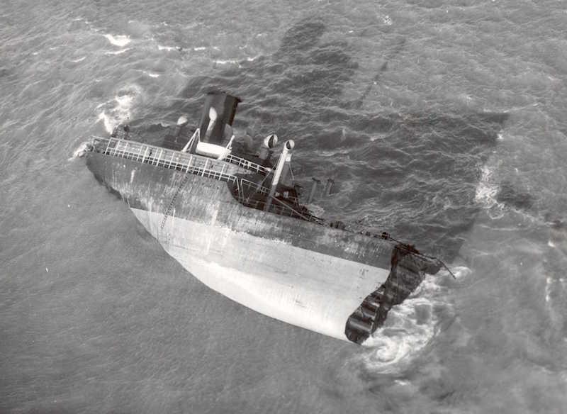 The stern of the Pendleton. Photo: U.S. Coast Guard