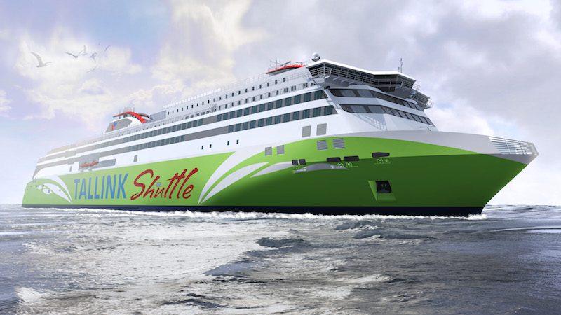 An illustration of a Tallink LNG-powered ferry now under construction at Meyer Turku. Photo: Meyer Turku