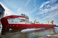 Ship Photo of the Day – Royal IHC Launches Pipelaying Vessel Sapura Rubi