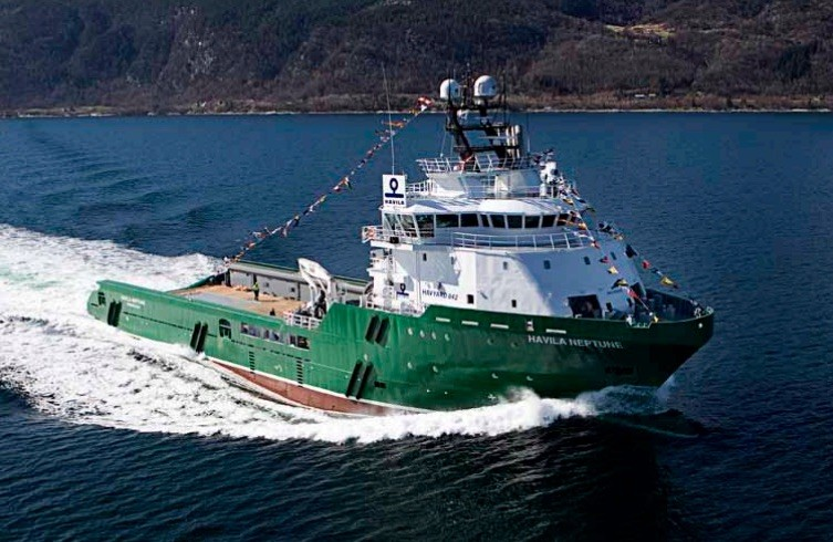 Havila Shipping's Havila Neptune was one of two AHTS' the company was forced to lay-up September 2015. Photo: Havila Shipping