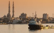 An offshore supply vessel in Egypt's Port Said. File Photo: BigRoloImages / Shutterstock.com