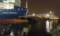 Ship and barge collide in Corpus Christi Inner Harbor