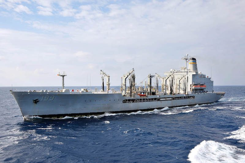 121104-N-TG831-151 PHILIPPINE SEA (Nov. 4, 2012) The Military Sealift Command fleet replenishment oiler USNS Tippecanoe (T-AO-199) is underway in the U.S. 7th Fleet area of responsibility after completing a replenishment-at-sea with the Arleigh Burke-class guided-missile destroyer USS McCampbell (DDG 85). McCampbell is part of the George Washington Carrier Strike Group, the U.S. Navy's only continuously forward-deployed carrier strike group, based out of Yokosuka, Japan, and is currently conducting a routine western Pacific patrol in support of regional security and stability of the vital Asia-Pacific region. (U.S. Navy photo by Mass Communication Specialist Seaman Declan Barnes/Released)