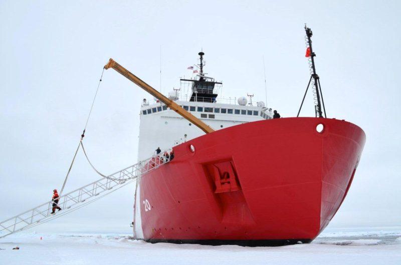 US Coast Guard Icebreaker Healy Gangway