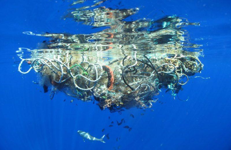 ocean-plastic floating debris