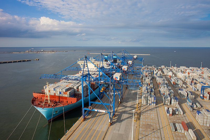Maersk Triple-E at the Deepwater Container Terminal Gdansk. Photo: DCT Gdansk SA