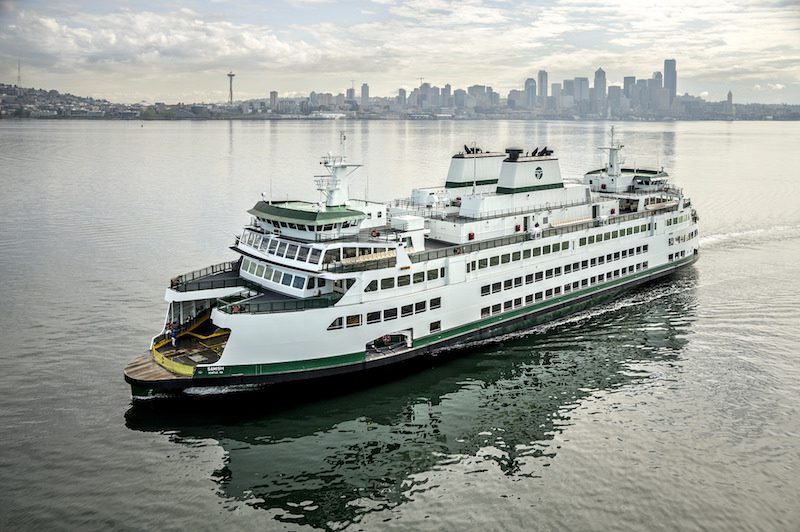 The WSF's M/V Samish during sea trials in April 2015. Photo: Washington State Ferries