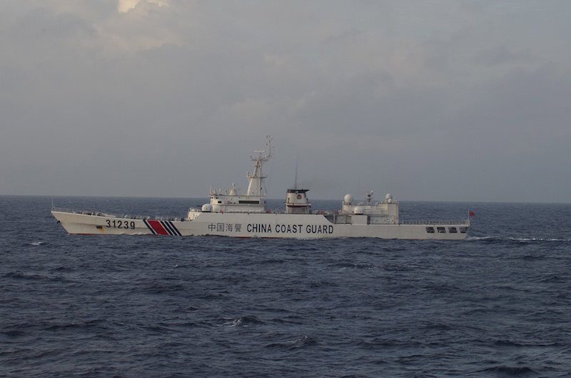 China Coast Guard vessel No. 31239 sails in the East China Sea near the disputed isles known as Senkaku isles in Japan and Diaoyu islands in China, in this handout photo taken and released by the 11th Regional Coast Guard Headquarters-Japan Coast Guard December 22, 2015. REUTERS/11th Regional Coast Guard Headquarters-Japan Coast Guard