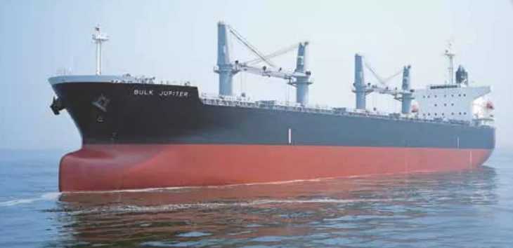 MV Bulk Jupiter. Photo credit: Gearbulk