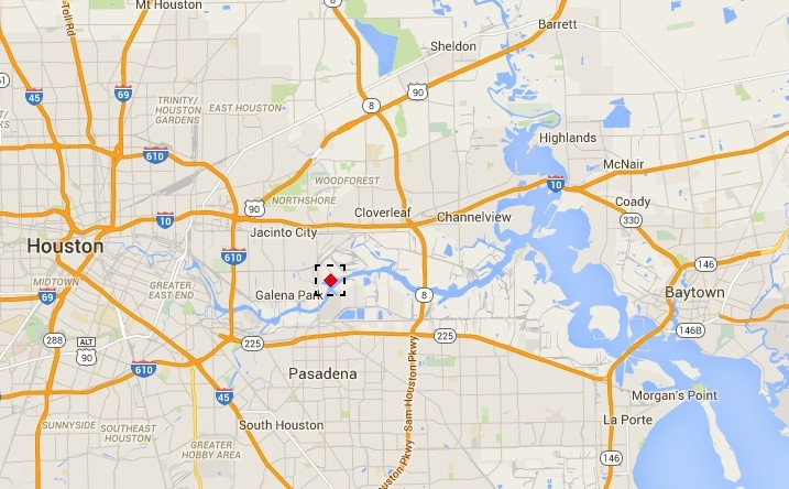 AIS data from MarineTraffic.com shows the LPG tanker Navigator Europa moored in the Houston Ship Channel, Monday, December 14, 2015. Credit: MarineTraffic.com