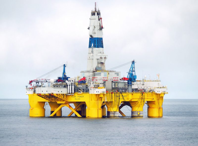 Shell's arctic drilling rig Polar Pioneer. Photo: Shell Alaska