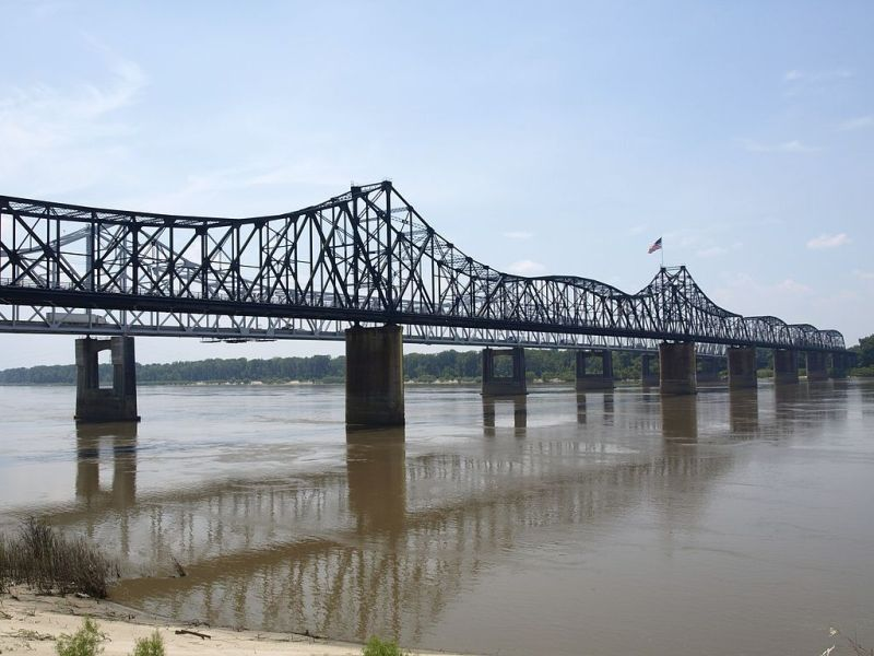 The Vicksburg Railroad Bridge, also know as the Old Vicksburg Bridge or Mississippi River Bridge.