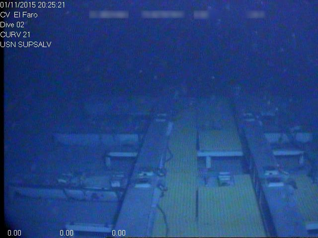 Empty main deck of the El Faro