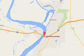 Location of the Vicksburg Railroad Bridge