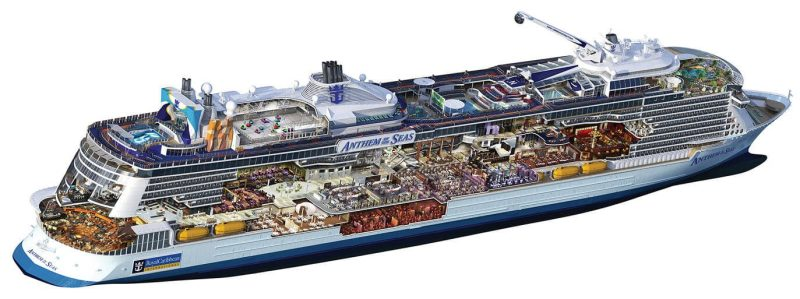 Anthem of the Seas Vessel Drawing