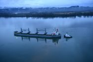 Incident Photos: Bulk Carrier Listing After Grounding in Columbia River
