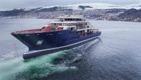WATCH: Kleven Launches 116-Meter Expedition Yacht