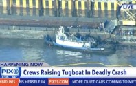 Sunken Tugboat Pulled from Hudson River with Body of Third Victim