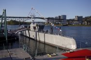 Pentagon Christens Unmanned Anti-Sub Ship
