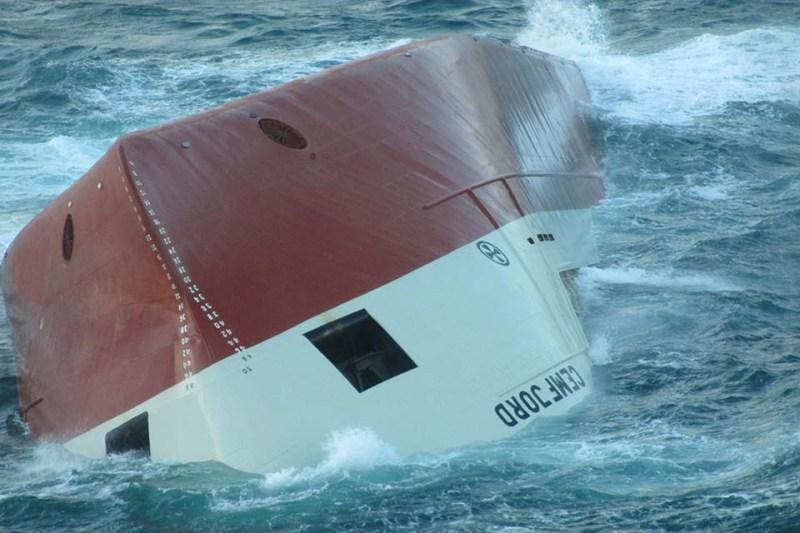 Upturned hull of Cemfjord. Photo: MAIB