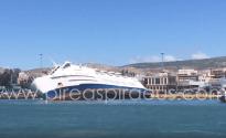 Seized Greek Ferry Listing at Piraeus Port