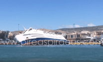 Seized Greek Ferry Listing at Piraeus Port