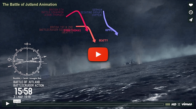 Battle of Jutland animation; click image to view on HeritageDaily