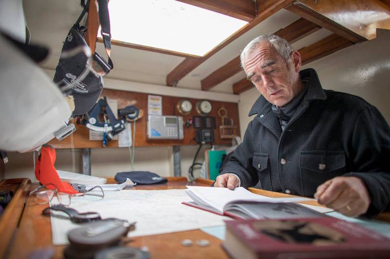 Loick Peyron on board his Pen Duick II. Photo credit: The Transat bakerly/Facebook