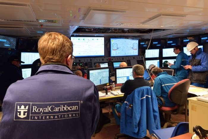 Harmony of the Seas' control room. Credit: Royal Caribbean