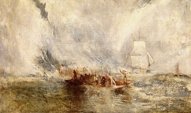 Whalers exhibited 1845 Joseph Mallord William Turner 1775-1851 Accepted by the nation as part of the Turner Bequest 1856 http://www.tate.org.uk/art/work/N00545
