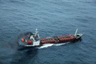 Cracked Asphalt Tanker Saved Off India