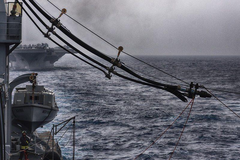great green fleet replenishment at sea
