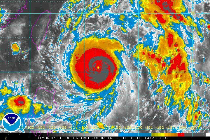 NOAA IR Satellite photo of Super Typhoon Nepartak