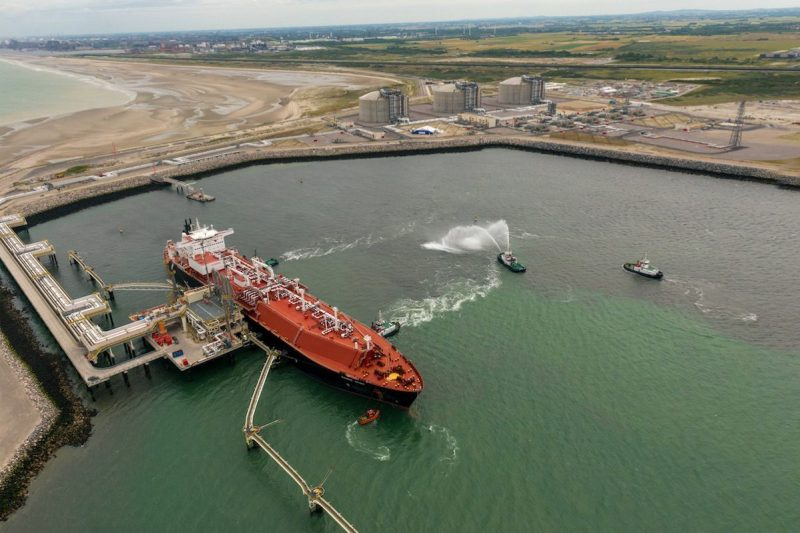 The LNG carrier Madrid Spirit delivers the first cargo to the new Dunkerque LNG terminal. Photo: EDF France