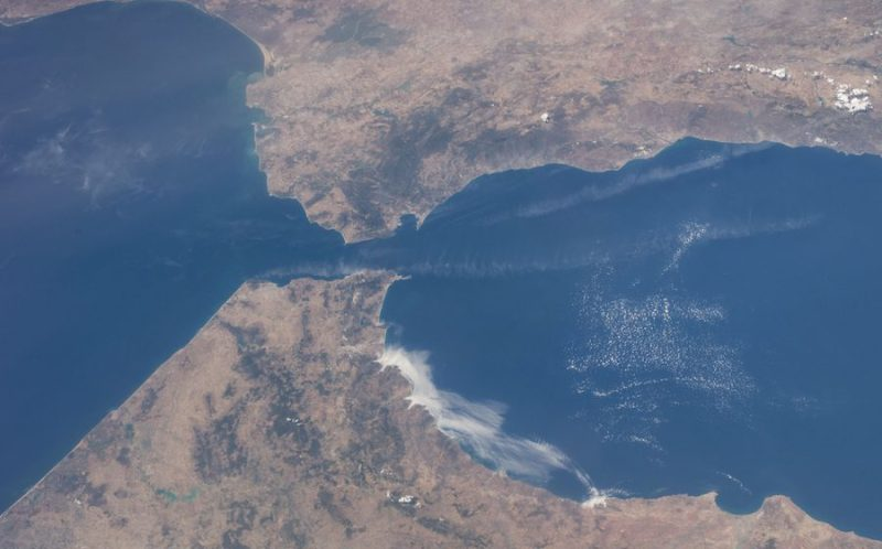 Strait of Gibraltar viewed from space