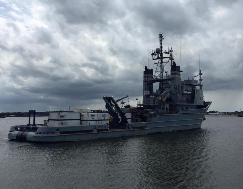 The USNS Apache (T-ATF 172) departed today to support the National Transportation Safety Board's efforts to retrieve the voyage data recorder from the site of the sunken cargo ship El Faro.