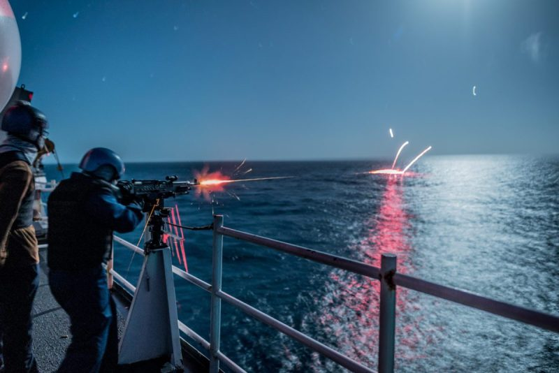 Ship Nighttime weapons Tracer