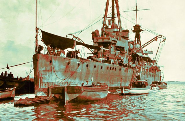 HMAS Australia at Fremantle, 1919
