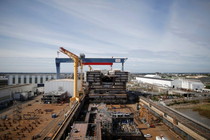 A view shows a section of the Oasis Class 4 at the STX Les Chantiers de l'Atlantique shipyard site in Saint-Nazaire, France, September 2, 2016. REUTERS/Stephane Mahe