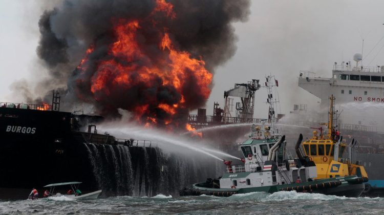 Massive Fire Engulfs Pemex Oil Tanker in Gulf of Mexico -PHOTOS