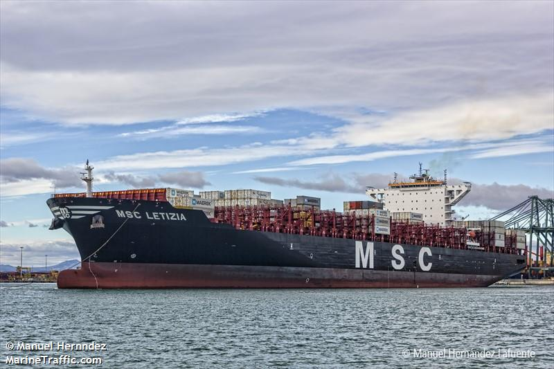 MSC Letizia. Photo: MarineTraffic.com/