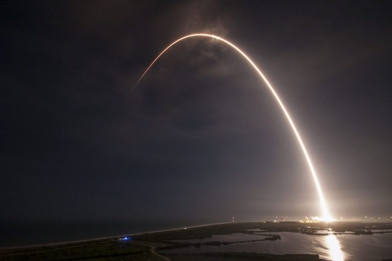 A SpaceX rocket launches from Cape Canaveral, Aug. 14, 2016. Photo: SpaceX