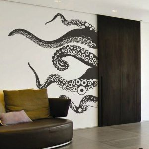 Kraken Octopus Tentacles Nautical Wall Sticker