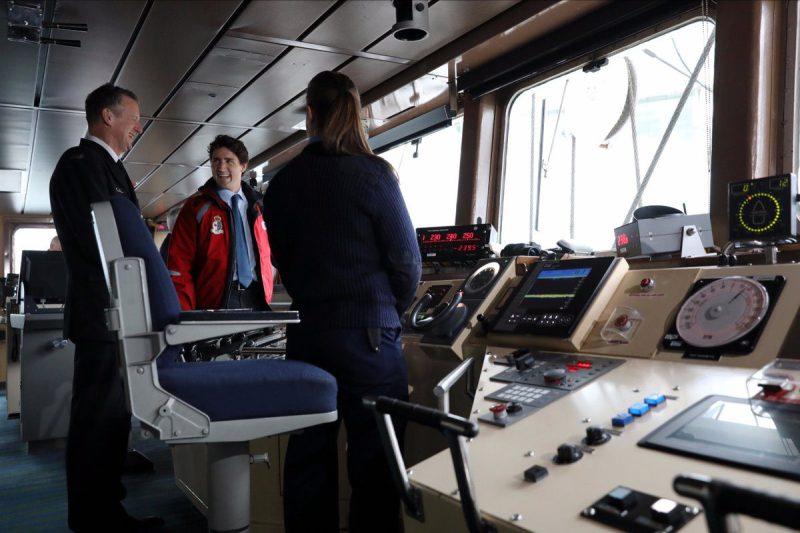 Prime Minister Justin Trudeau tours a Canadian Coast Guard Vessel