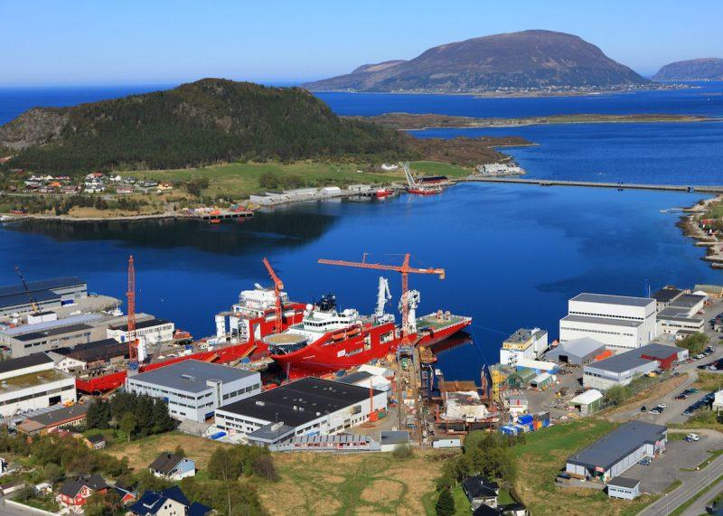 The Vard Søviknes shipyard in Norway. Photo credit: Vard